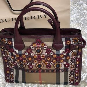 Burberry Bag (rare collection)(Maroon Leather)